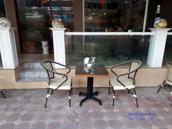 Bàn Ghế Cafe Mây Nhựa TL551