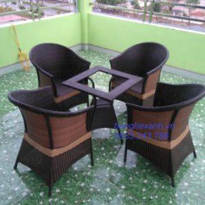 Bàn Ghế Cafe Mây Nhựa TL511