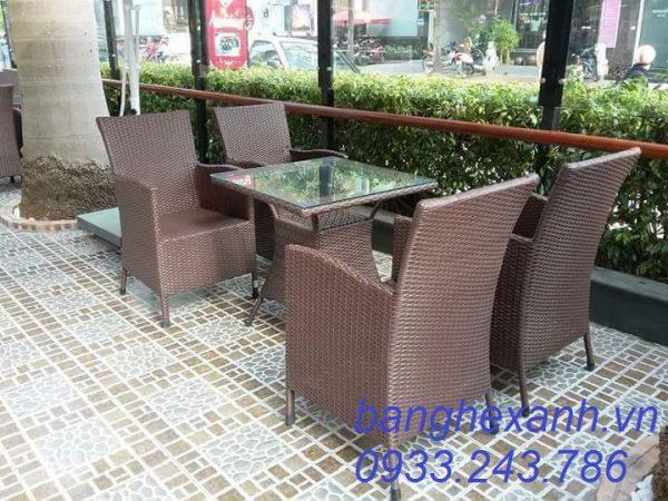 Bàn Ghế Cafe Ngoài Trời BGX5A01